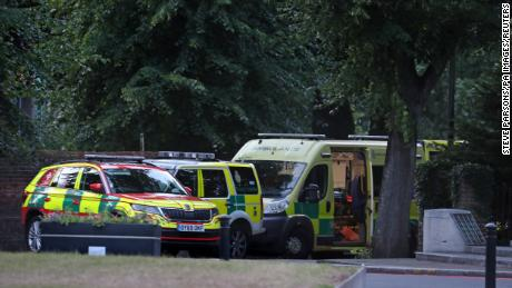 Emergency services at Forbury Gardens in Reading town center responded to the incident, where three people died.