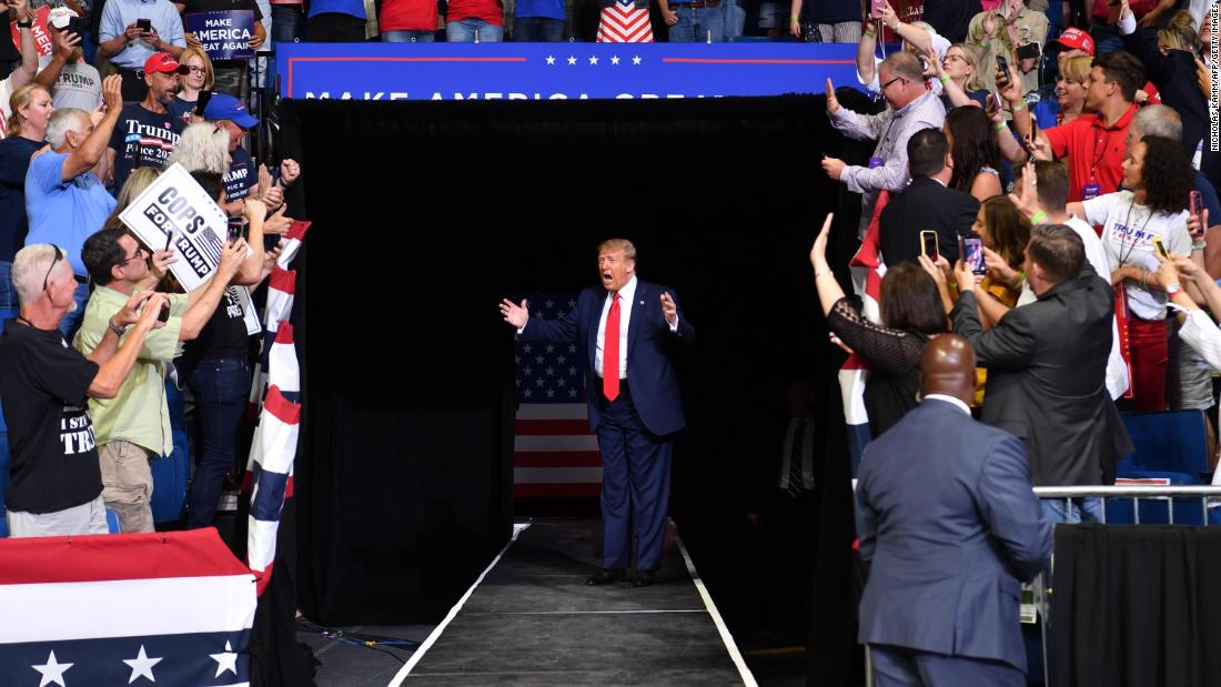 Trump holds first entirely indoor rally in nearly three months