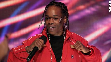 "Hurricane Chris performs at a taping of BET's ""106 and Park"" New Year's Eve show in New York in 2007."