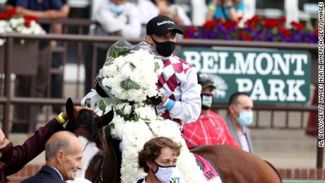 Tiz the Law wins the 152nd Belmont Stakes