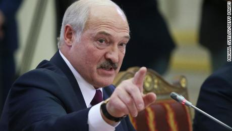 President Alexander Lukashenko speaks during a summit on December 20, 2019 in St. Petersburg, Russia.