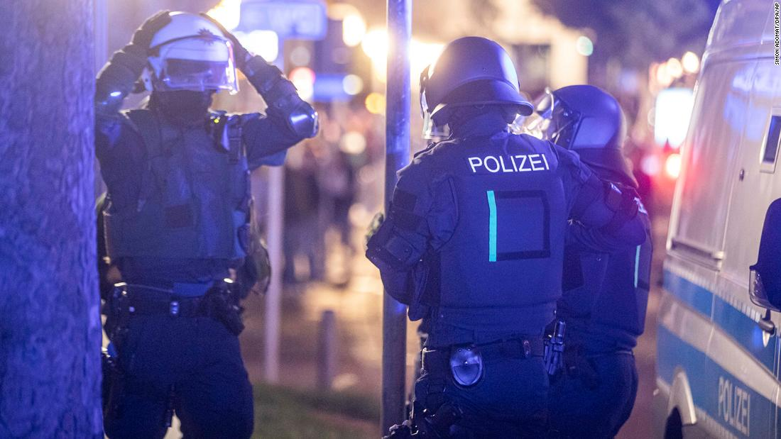 Riots in Germany leave dozens arrested and injured