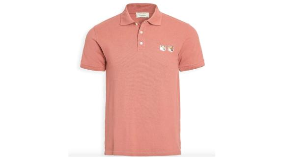 Maison Kitsune Men's Double Fox Head Polo Shirt
