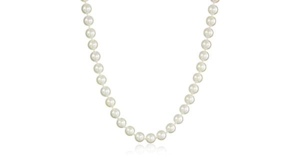 14k Yellow Gold Saltwater Akoya Cultured Pearl AA Grade 7.5-8mm Necklace, 18-inch