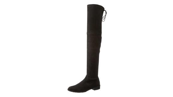 Stuart Weitzman Women's Lowland Suede Tie-Back Over-The-Knee Boots