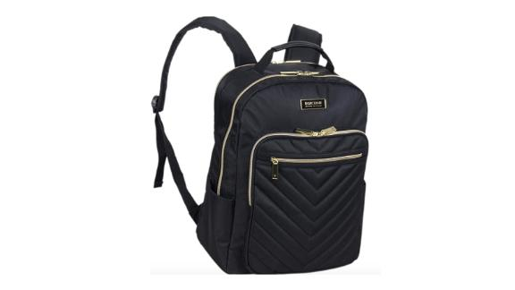 Kenneth Cole Reaction Women's Chevron Quilted Polyester Twill 15.6-inch Laptop Backpack