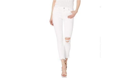 Sonjer Men Jeans Fashion Snow Wash Slim Skinny Denim Jeans Elastic Straight Jeans Jeans Men Little Feet Pants