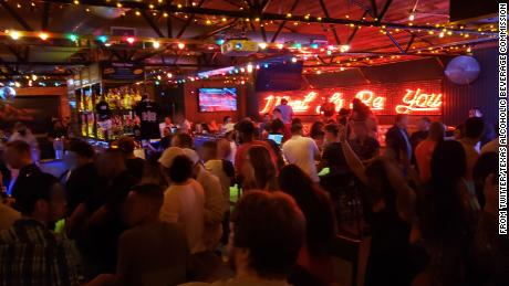 A Twitter photo shows crowds in Houston's Handlebar, one of the bars named by the Texas Alcohol Beverage Commission.