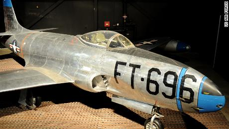 F-80 Meteor Korean War Period Fighter at the National Museum of the US Air Force