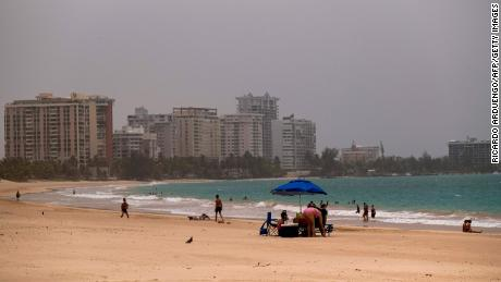 Saharan dust tints the sky Monday in San Juan, Puerto Rico.