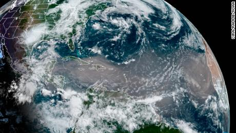 The historic Saharan dust plume darkens the skies in the Caribbean and will soon extend to the United States