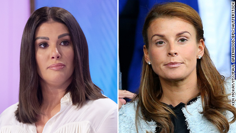 Rebekah Vardy, left, and Coleen Rooney.