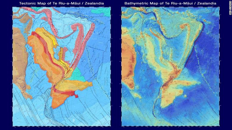 New maps released on June 21 show new details of Zealandia's geology and topography.