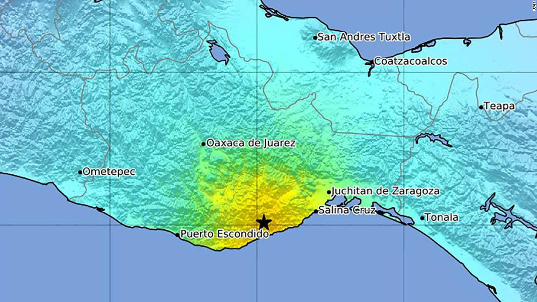 Earthquakes In Mexico Area Affected By Earthquake In Mexico