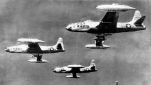 In 1950, four F-80 jet fighters took off from a Japanese base and flew from the North Korean base to the North Korean Communist Corps at a height of 30,000 feet.