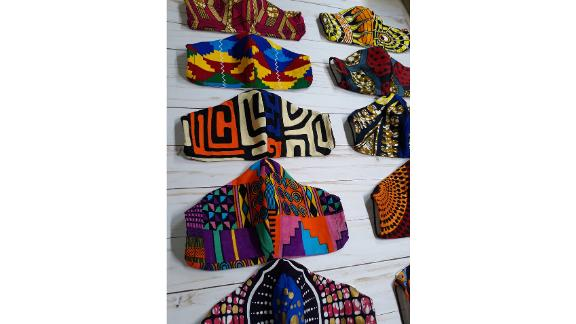 Danalia by DP African Print Face Mask with Filter Pocket