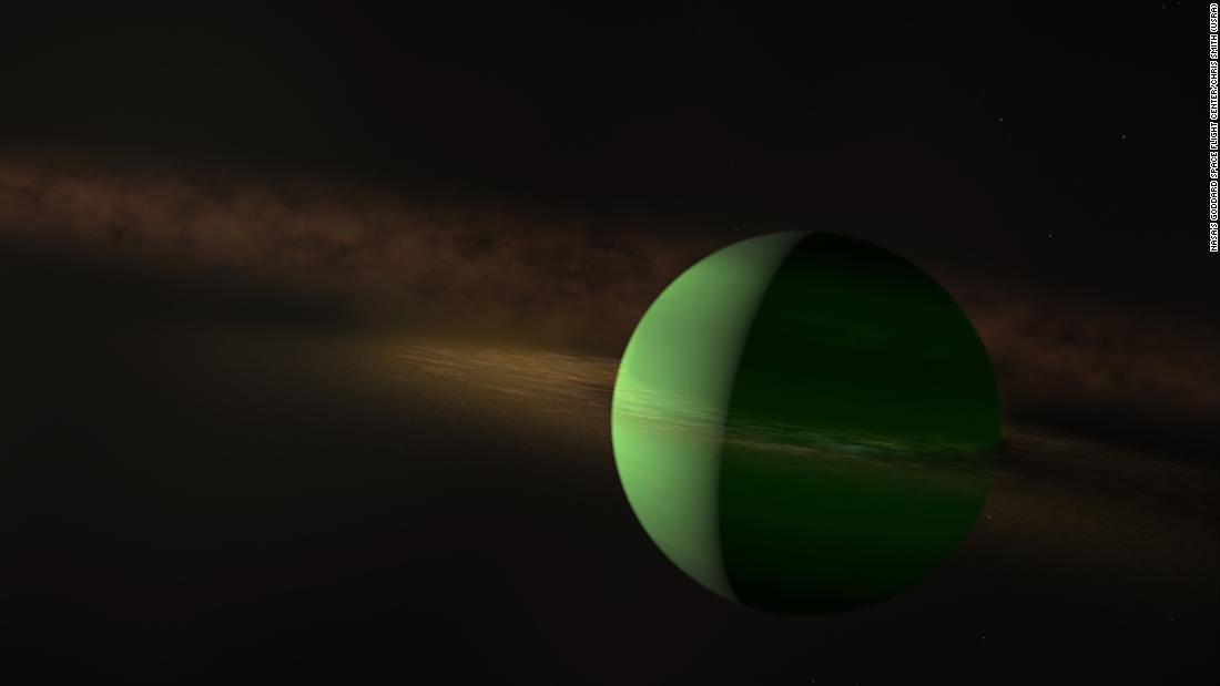 The newly discovered exoplanet AU Mic b is about the size of Neptune.