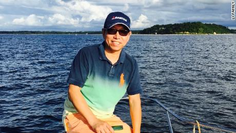 Kai Li in 2015 off the Long Island Sound, New York. Born in Shanghai, Li emigrated to the US in 1989 and became an American citizen.
