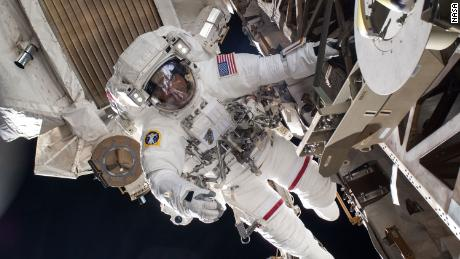 Cassidy is pictured in July 9, 2013, during a six-hour, seven-minute spacewalk.