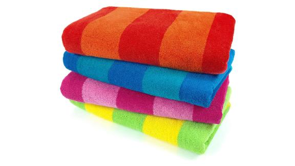 Kaufman Striped Beach & Pool Towel 4-Pack