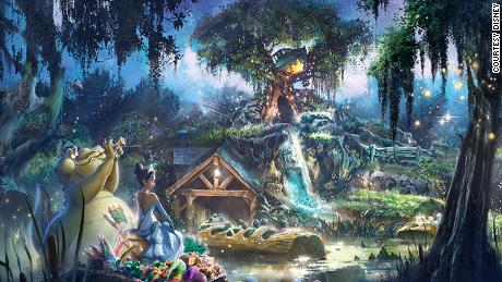 "Disney said that the new Splash Mountain will pick-up the story of ""Princess and the Frog"" after the film's ""final kiss."""