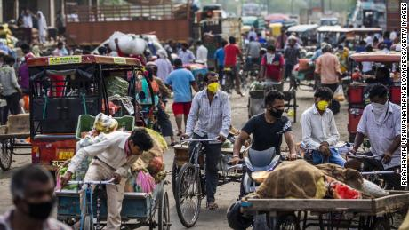 Coronavirus study shows that almost one in four people in the Indian capital may have contracted the virus