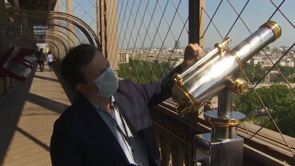 paris france eiffel tower reopening coronavirus covid 19 pandemic lockdown Vanier pkg intl ldn vpx_00001618.jpg