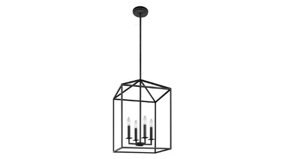 Laurel Foundry Modern Farmhouse Odie 4 - Light Lantern Rectangle Chandelier