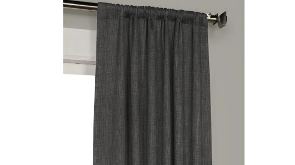 Three Posts Clem Solid Max Blackout Rod Pocket Single Curtain Panel