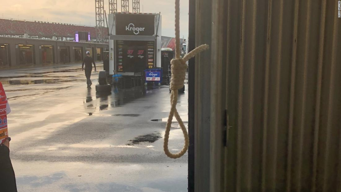 This is the noose that was present in Bubba Wallace's storage stall on the Talladega Superspeedway - CNN thumbnail