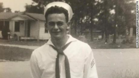 Shown here is James Mandeville when he served in the US Navy.