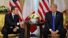 President Donald Trump and French President Emmanuel Macron at a meeting in London in December 2019.