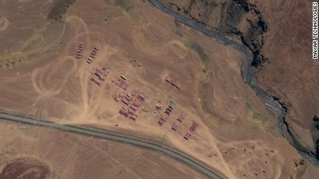 Un tanque de PLA y una compañía de artillería acamparon en Gorga en el Aksai Chin.