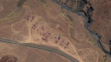 Una compagnia di carri armati e artiglieria PLA si accampò a Gorga nel mento di Aksai.