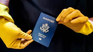 US passport gloves