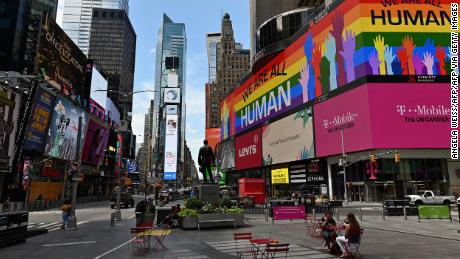 The ongoing coronavirus pandemic led to the cancelation of the 2020 Pride march in New York.