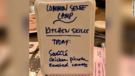 "The second week of camp focused on ""Kitchen Confidence."""