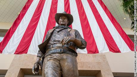 A statue of John Wayne was placed in the airport in 1982, three years after the name change.
