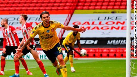 Dani Ceballos a marcat câștigătorul Arsenalului în prelungiri împotriva lui Sheffield United.