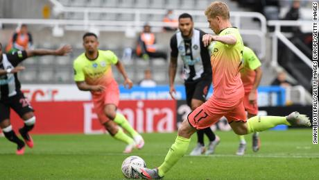 Kevin de Bruyne a marcat duminică primul gol al Manchester City pentru ziua de naștere.