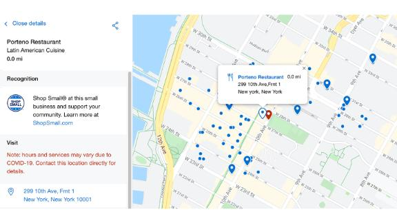 """Use the Amex """"Shop Small"""" map tool to find eligible businesses where you can use your credits."""