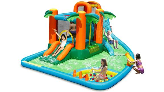 Costzon Inflatable Water Park, 7 in 1 Jungle Castle