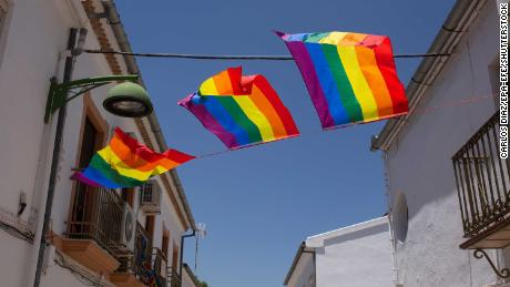 This Spanish town was forced to take down its Pride flag -- so residents decked it out in rainbows