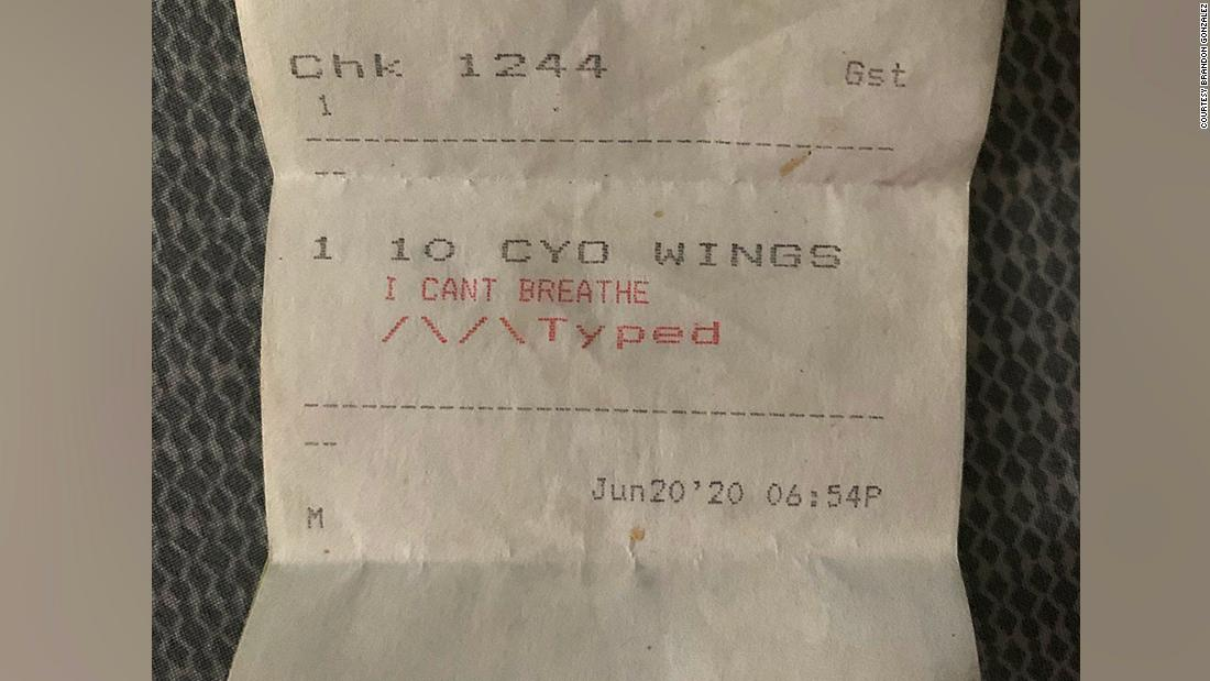 Employee of a Miami restaurant quit after one of its owners jokingly referred to blackened chicken wings menu item as 'I Can't Breathe'