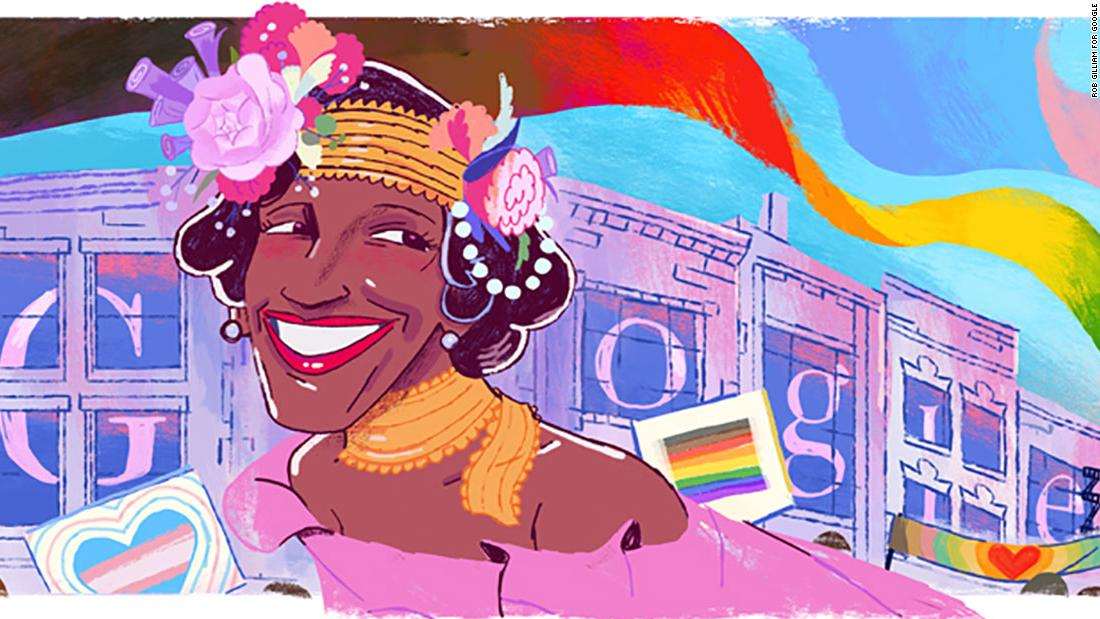 Photo of Google Doodle of Marsha P. Johnson, beloved trans-rights activist, will close out Pride month | Christina Maxouris, CNN
