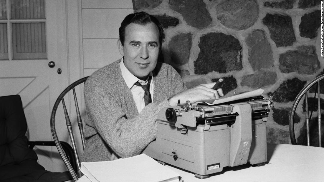 Reiner is pictured at a typewriter in 1960. As a performer, Reiner preferred to play straight man or work behind the scenes.<br />.