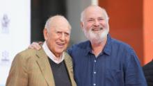 Carl Reiner is photographed with his son Rob Reiner in 2017.