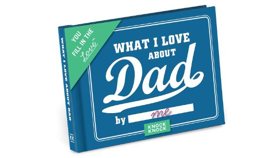 "Knock Knock ""What I Love about Dad"" Fill-in-the-Blank Gift Journal"