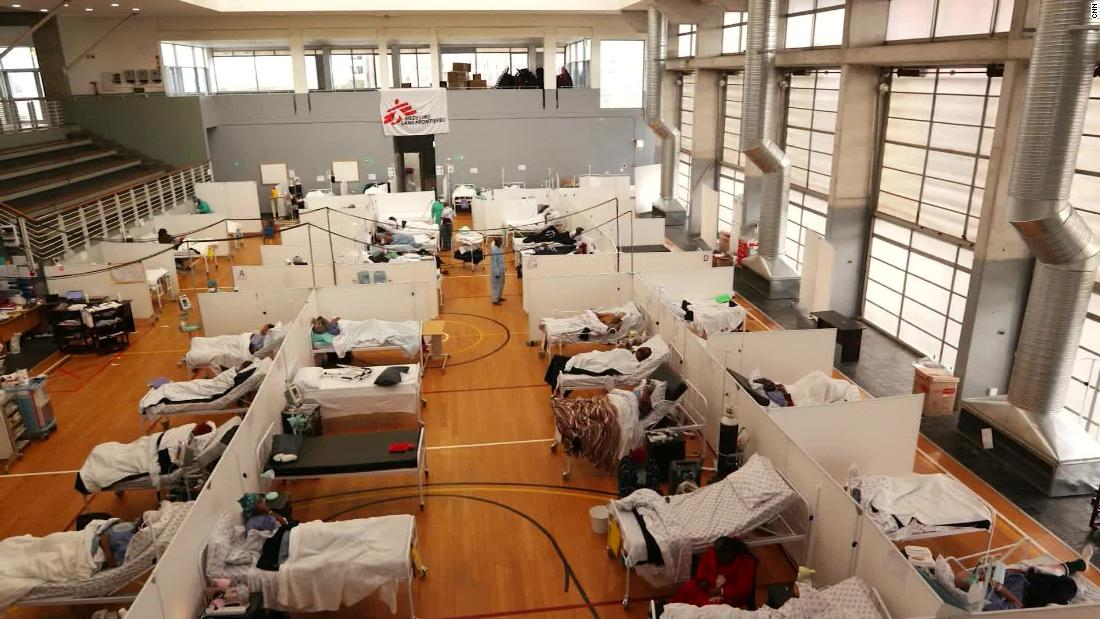 South Africa turns recreational center into field hospital