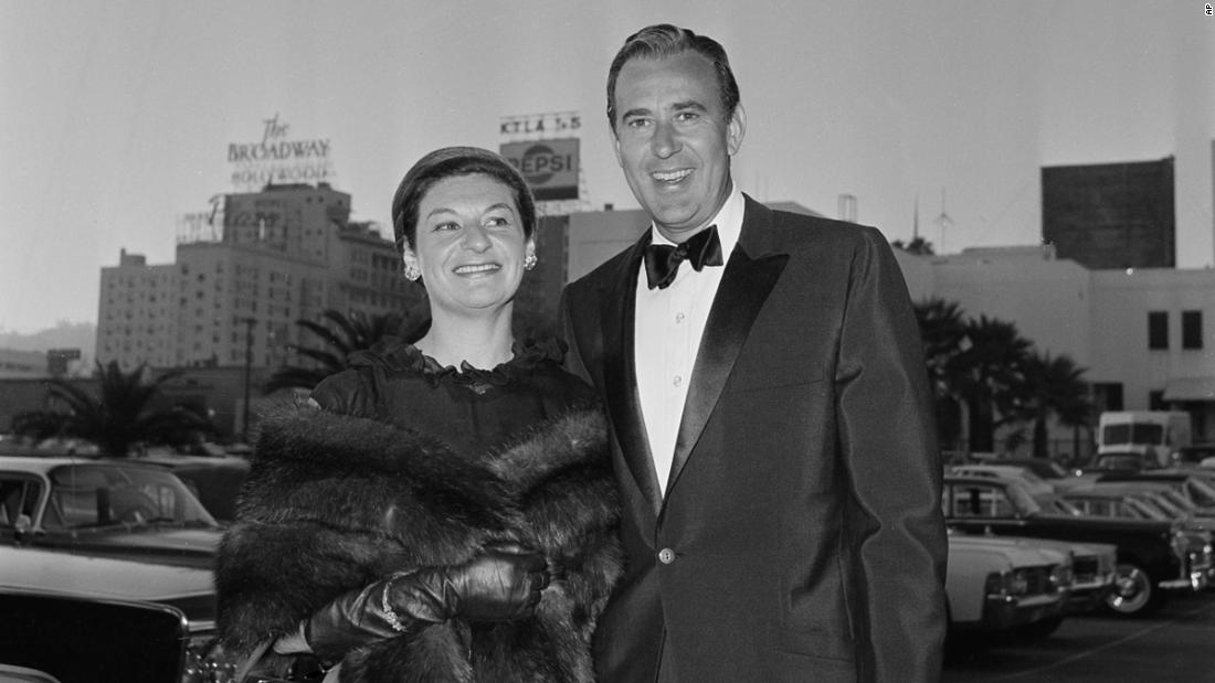 Reiner and his wife Estelle Reiner arrive at the 1965 Emmy Awards in Hollywood. The pair were married for almost 65 years.